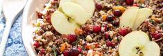 Quinoa Stuffing with Apple, Sweet Potato & Hazelnuts - Marla Meridith