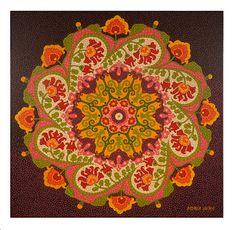 Mandala floral - mosaico de tinta - Andréa Horn