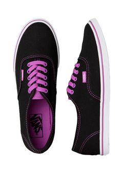 11fa9152044 Vans - Authentic Lo Pro Neon Black Purple - Girl Shoes - Official .