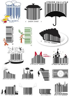 Be creative! Unusual barcode designs