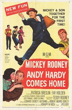 """""""Andy Hardy Comes Home""""- the 16th Andy Hardy movie"""