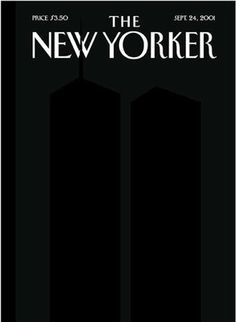 September 14th, 2001, The New Yorker  No words and color are needed for this cover. It is much more powerful the way it is, the minimalistic look of it better represents September 11th, 2001, because it can't even begin to depict the horrible events that day. The New Yorker has had a lot of profound and interesting covers in the past, (one of my favorite magazines), but this one stands out the most.   #thenewyorker #worldtradecenter #twintowers #september11th