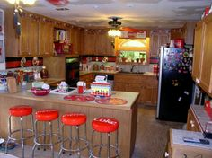 Coca Cola kitchen, love the bar stools.  I'm thinking about going more late 40's early 50's retro with my kitchen