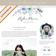 Blogger Template Premade Blog Design by DutchLadyDigiDesign