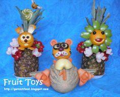 Fruit Carving Arrangements and Food Garnishes: Babyshower Fruit Toys