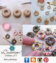 Creativiam: Rica dona Cute Polymer Clay, Polymer Clay Miniatures, Fimo Clay, Polymer Clay Projects, Polymer Clay Charms, Polymer Clay Creations, Handmade Polymer Clay, Polymer Clay Jewelry, Clay Crafts
