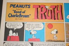 Snoopy and the meaning of Life Charlie Brown by ClassicVintageAds, $10.00