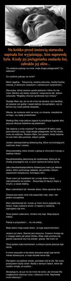 Na krótko przed śmiercią staruszka napisała list wyjaśniając, kim naprawdę była. Kiedy jej pielęgniarka znalazła list, zabrakło jej słów... – Demotywatory.pl