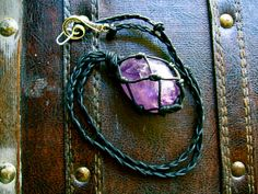 Large Amethyst Amulet necklace by EireCrescent on Etsy, $22.99