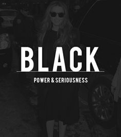 My signature color: black