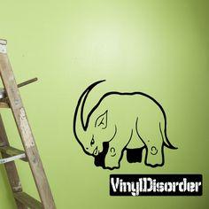 Rhino Wall Decal - Vinyl Decal - Car Decal - DC006