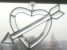 Stained Glass SuncatcherCupid's by CreativeSpiritGlass on Etsy