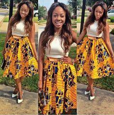 Beautiful ankara skirt ~Latest African Fashion, African women dresses, African Prints, African clothing jackets, skirts, short dresses, African men's fashion, children's fashion, African bags, African shoes ~DKK