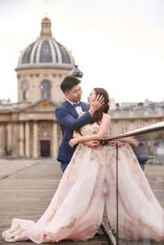 View photos in Paris Pre-Wedding Photoshoot for Singapore Couple At Eiffel Tower And Palais Royale . Outdoor Preweddingby Arnel, wedding photographer in Paris. Pont Paris, Pre Wedding Photoshoot, View Photos, Singapore, Tower, Wedding Photography, Formal Dresses, Couples, Fashion