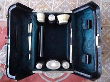 Fine Rare Antique Victorian Fitted Leather Travel Case with Original Fittings