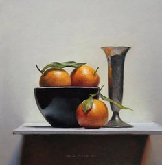 """https://www.facebook.com/MiaFeigelson """"Still Life with clementines"""" (2011) By Jos van Riswick, from Netherlands - oil painting; 33 x 34 cm - http://www.josvanriswick.com/"""