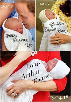 Prince George, Princess Charlotte, & Prince Louis