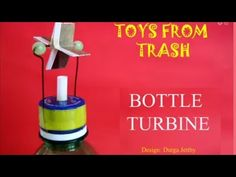 The Bottle Turbine is an amazing toy designed by Durga a school girl. All you need to do is to mount a freely moving turbine on a bottle lid. There is a whit...
