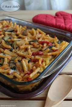 Baked pasta with vegetables