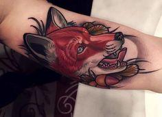 #fox #raposa #neotraditional #tattoo #lines #inspiration #inspiração