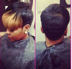 Cute cut & color (with added weave but could still work without the addition of weave) Relaxed hair Style Love Hair, Gorgeous Hair, Sassy Hair, Short Styles, Pixie Styles, Hair Laid, Cute Cuts, My Hairstyle, Hair Affair