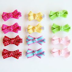 Colorful Bow Hair Clips
