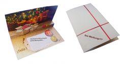 Weihnachtskarten-Grüße - mit Ihrer individuellen Werbung.