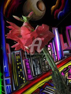 Stadtblume (Digitale Künste) von Manfred Hoppe