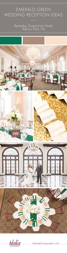 Berkeley Oceanfront Hotel Wedding Emerald Reception Ideas | Photo by Idalia Photography