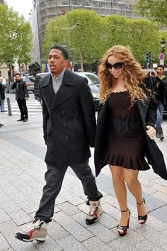 Mariah Carey Photos: Mariah Carey and Nick Cannon in Paris