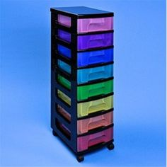 Really Useful Rainbow Storage Tower 8 X 7 Litres