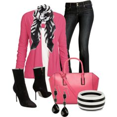 """""""Striped Scarf"""" by justbeccuz on Polyvore"""