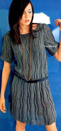 Вязание платье спицами