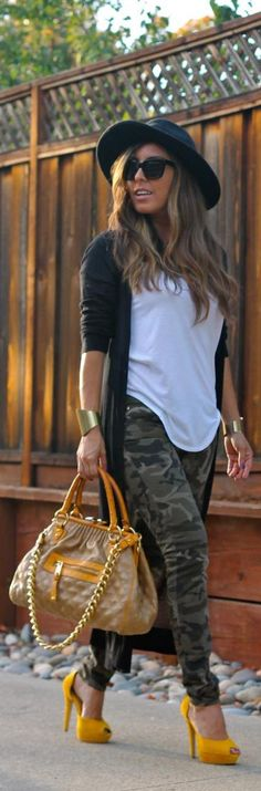Cute outfit just replace the yellow pumps with black booties