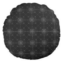 Third Dimensional Sacred Geometry Round Pillow