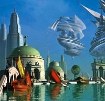 Free images about Cosmic Port - MobDecor Futurism Art, Retro Futurism, Steampunk Airship, Dieselpunk, Fantasy World, Fantasy Art, Character Concept, Concept Art, The Shadow Queen