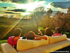 TOP 20 Tips for Outdoor Entertaining -  Cheers to a great sunset!