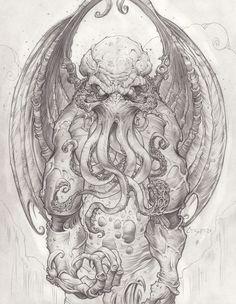 Cthulhu drawing