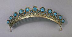 Antique Tiara, France (ca. 1805-1830; turquoises, diamonds, gold). © Trustees of the British Museum.