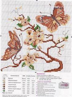 Cantinho da Jana: Gráficos de ponto cruz de borboletas