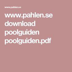 www.pahlen.se download poolguiden poolguiden.pdf