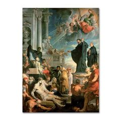 Trademark Fine Art 'The Miracles Of St Francis Xavier' Canvas Art by Peter Paul Rubens, Multicolor