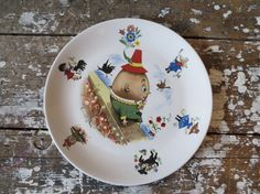 RESERVE  Vintage Child's Plate Old Foley by VintageShoppingSpree, $15.00