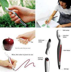 Scan & Draw Color Changing Pen  ...un sensore sulla parte superiore registra il colore dell'oggetto selezionato, che viene visualizzato sul retro della penna per la verifica. Dopo aver confermato, gli inchiostri vengono miscelati per creare il colore desiderato....