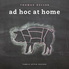 """A great cookbook from a local restaurant and of course the uber talented Thomas Keller...""""Ad Hoc at Home"""" @adhocyountville @chef_keller #food #wine"""