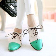 Черный / Синий / Зеленый / Бежевый / Оранжевый - Женская обувь - На каждый день - Искусственная кожа - На плоской подошве -С острым 2018 - ₪90.48