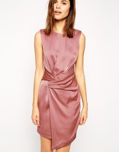 ASOS Shift Dress with Twist Front