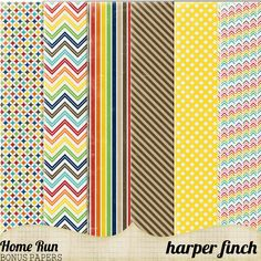 Free Home Run! Paper Pack from Harper Finch