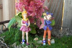 Miniature Fairy Garden Faires Sprites Pixie Elf Glitter Sparkle Couple or Single…