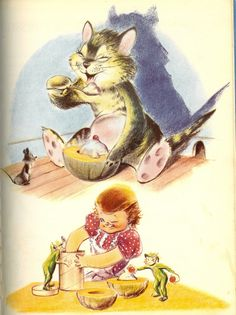 From the children's book, Little Mother's Cook Book, 1952